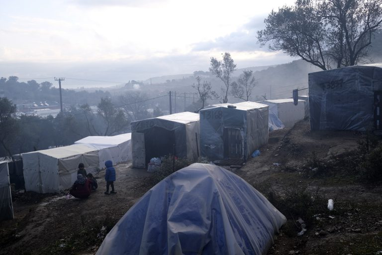 Several fires force the evacuation of the Greek refugee camp Moria