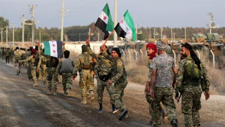 Six soldiers killed in an attack attributed to the Islamic State in eastern Syria