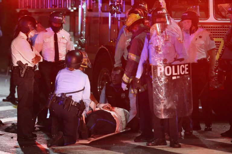 At least 91 were arrested after two days of protest in Philadelphia after police killed a black man