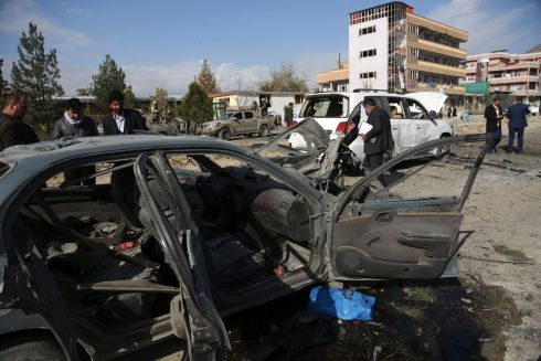 At least two dead and 25 wounded after a car bomb exploded in a police center in Afghanistan