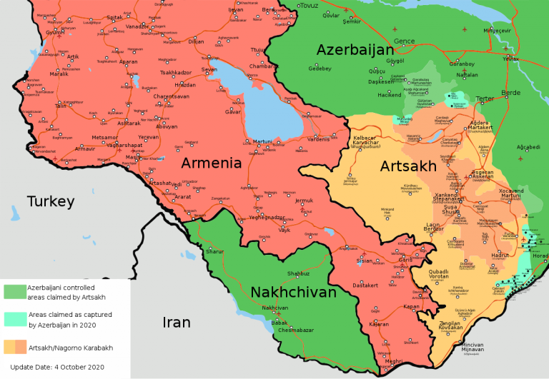 Azerbaijan blames Armenia for the deaths of at least 30 civilians in Nagorno-Karabakh