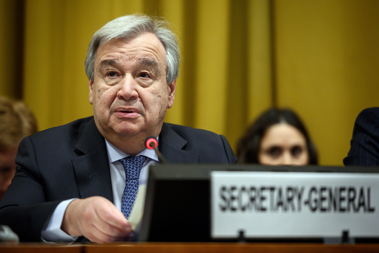 "Guterres warns that the process of eliminating nuclear weapons has ""stalled"" and may be reversing"