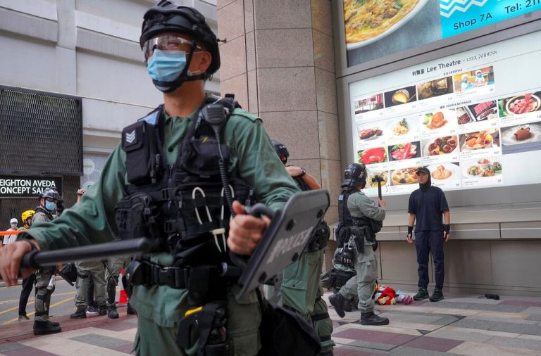 Hong Kong police opened a hotline to report violations of the national security law