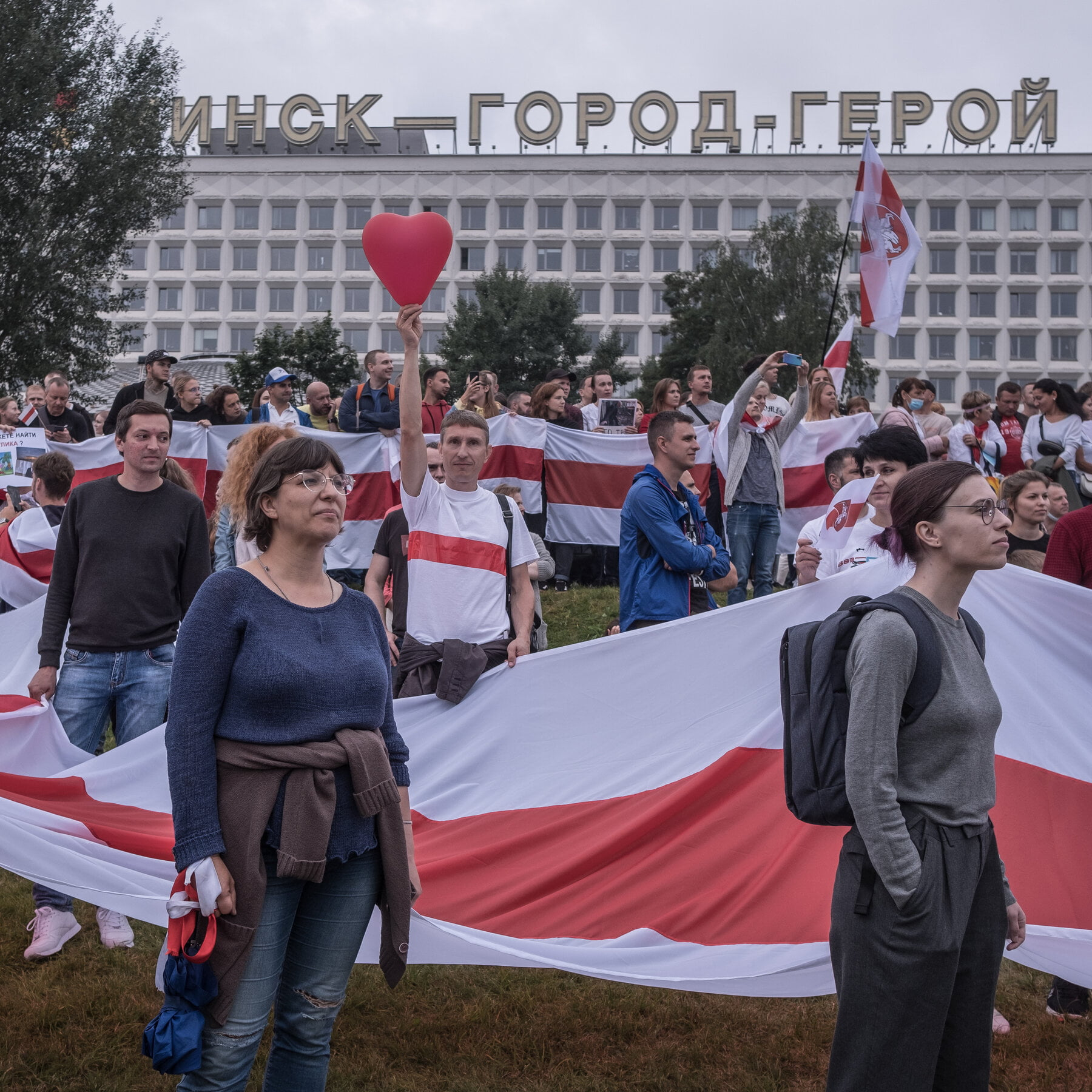 More than 300 people were arrested for taking part in Sunday's protests against the regime in Belarus