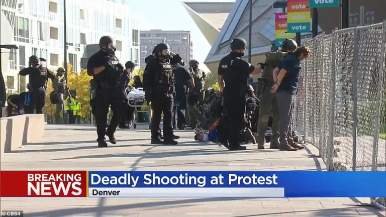 One dead after a shooting in a protest in the American city of Denver