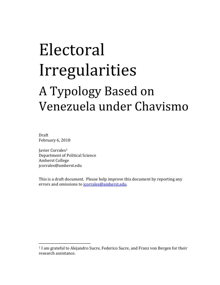 """The CNE of Venezuela calls on election observers to avoid """"conditioning the electoral process""""."""