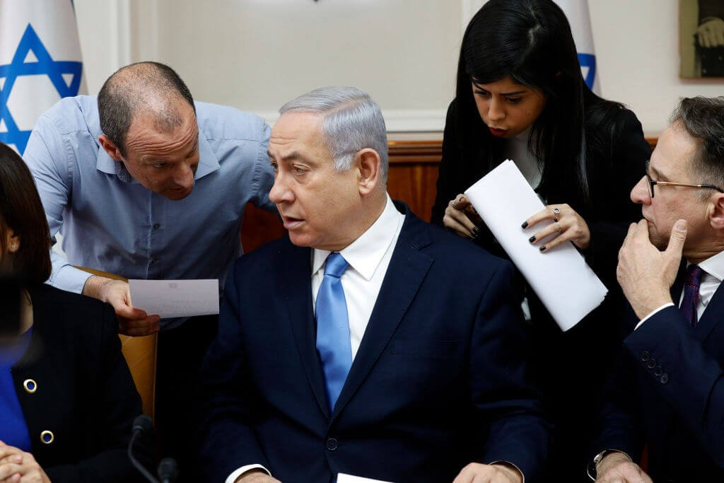 The Israeli government minister resigns due to a lack of confidence in Netanyahu