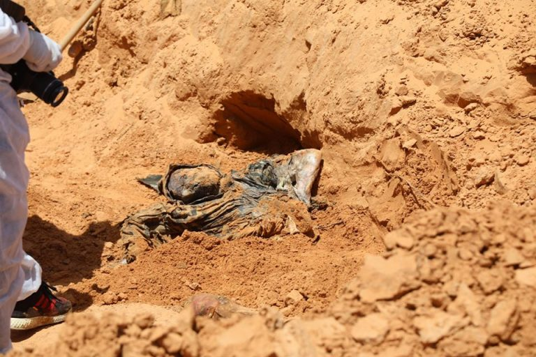The Libyan unity government finds three more mass graves in the city of Tarhuna