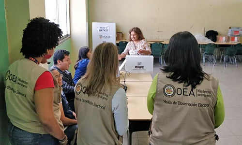 The OAS election observation mission for the US elections begins operations