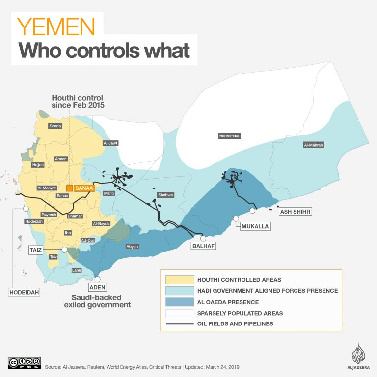 """The US condemns the """"irresponsible"""" increase in Houthis drone strikes against Saudi Arabia"""