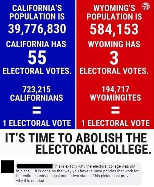 This is how the electoral college works