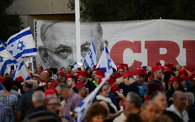 Thousands of people are protesting again in Israel against the Netanyahu government