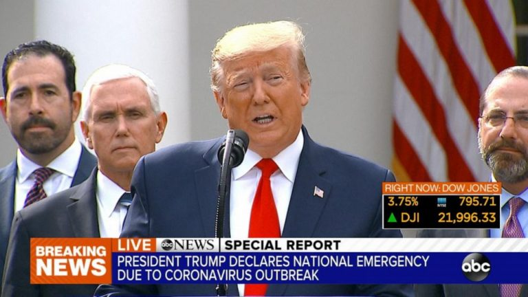 Trump announces that he has had a coronavirus test after his personal assistant tested positive