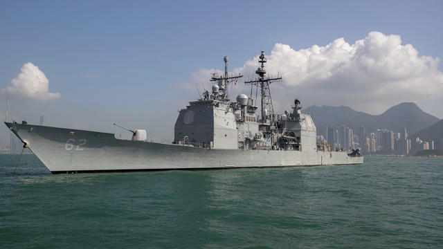 A Russian navy ship evicts a US destroyer for entering its waters in the Pacific