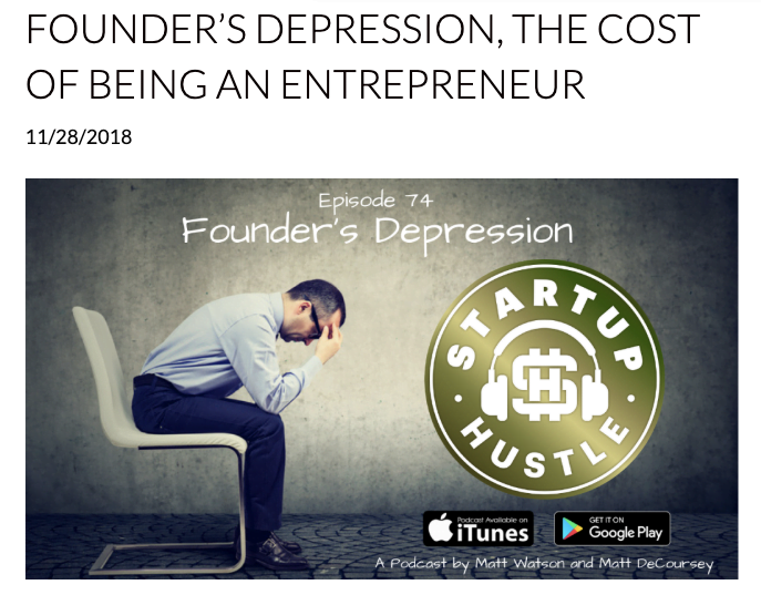 As an entrepreneur, I had suicidal thoughts. That's how I learned to deal with depression