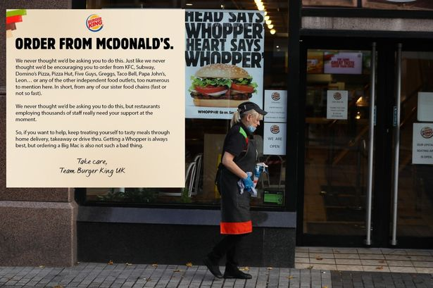 Burger King is asking you to buy from McDonald's