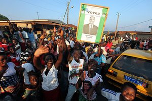 First results in Ivory Coast point to a landslide victory for Ouattara