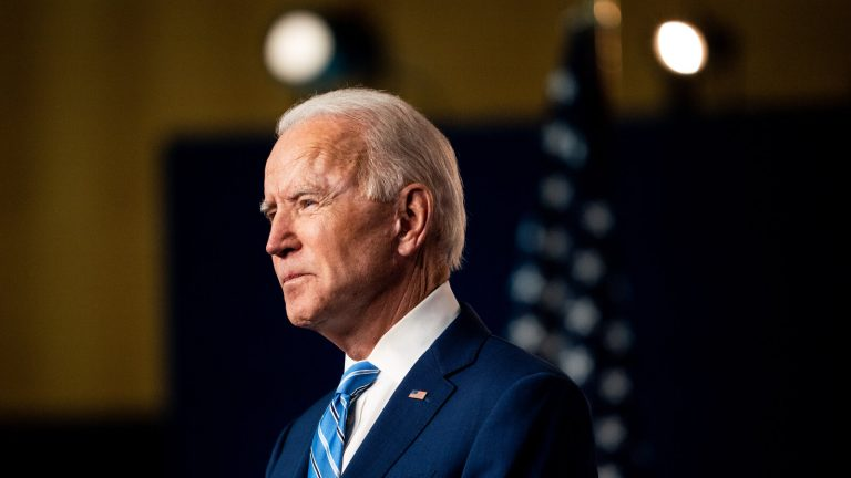 Hundreds of people gather outside the White House to celebrate Biden's triumph