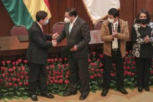 Luis Arce is sworn in as the new President of Bolivia
