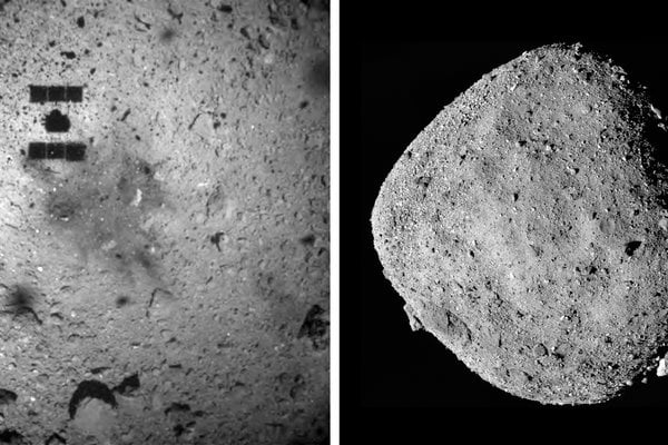The gas from the asteroid Ryugu, which originated in space, is being analyzed by Japanese scientists