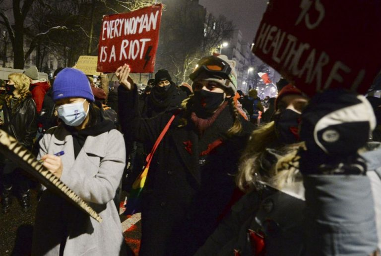 At least six people were arrested during recent protests against the abortion ban in Warsaw
