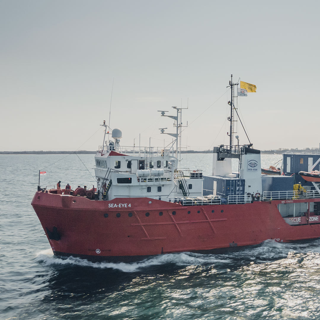 The 'Sea-Eye 4' saves around 330 migrants in various operations in the Mediterranean